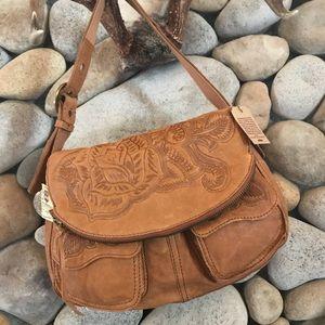 Lucky Brand Stash Flap Italian Leather Bag